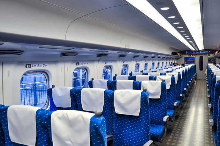 Interior of Japanese bullet train