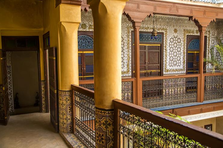 Interior of a Moroccan Riad