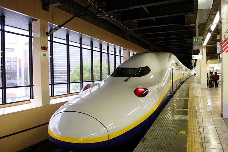 Nose of bullet train in Japan