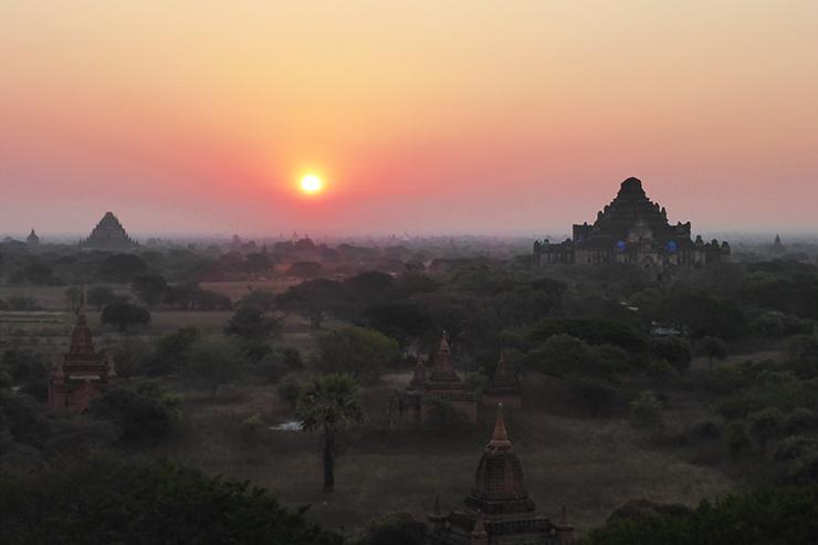 Sunrise over Bagan in Myanmar