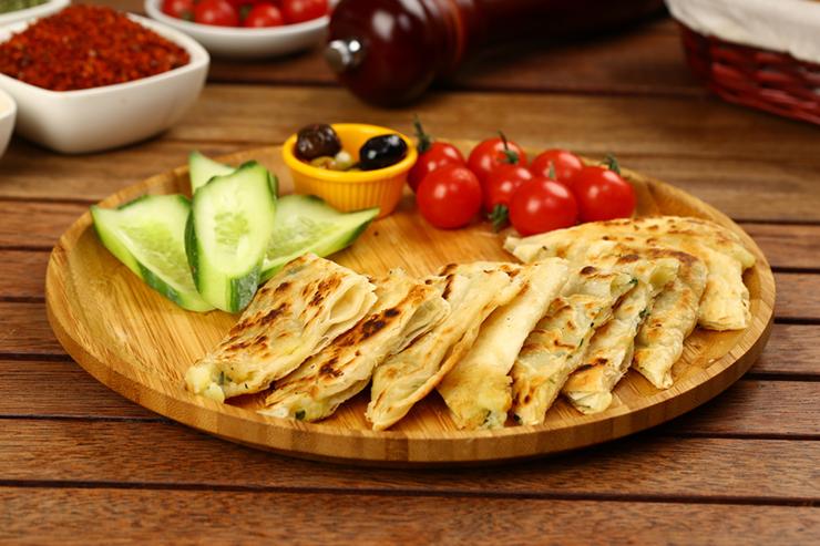 Turkish pancake known as Gozleme