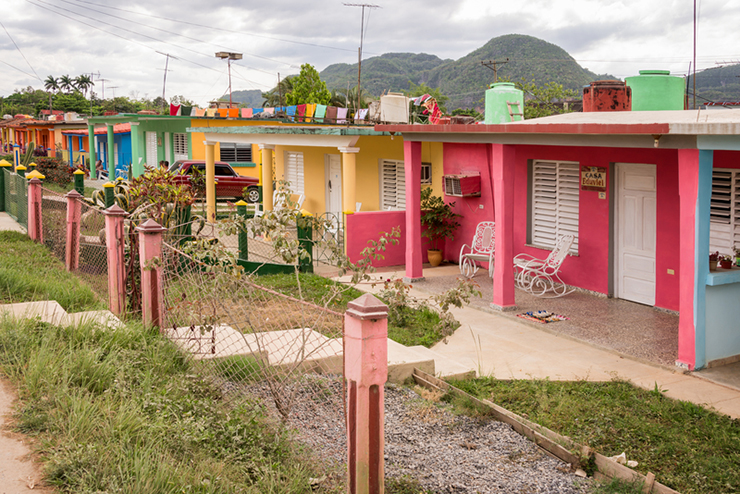Colorful houses in Vinales, Cuba