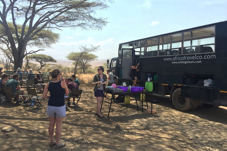 Overland camping in the Serengeti
