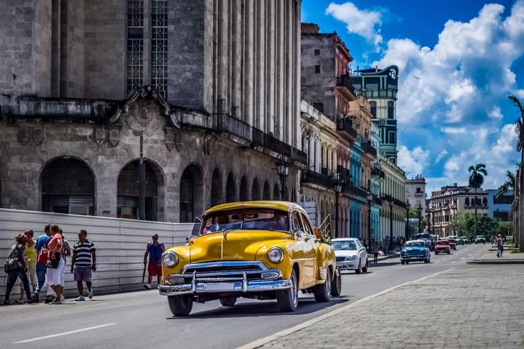 Street life scene in Havana Cuba