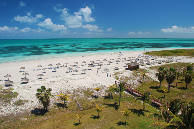 Caribbean tropical sand beach in Varadero Cuba