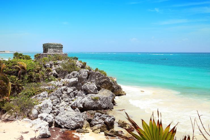 Ruins of Tulum in Mexico's Yucatan Peninsula