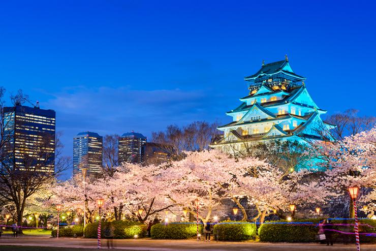 Osaka Castle during springtime, Japan