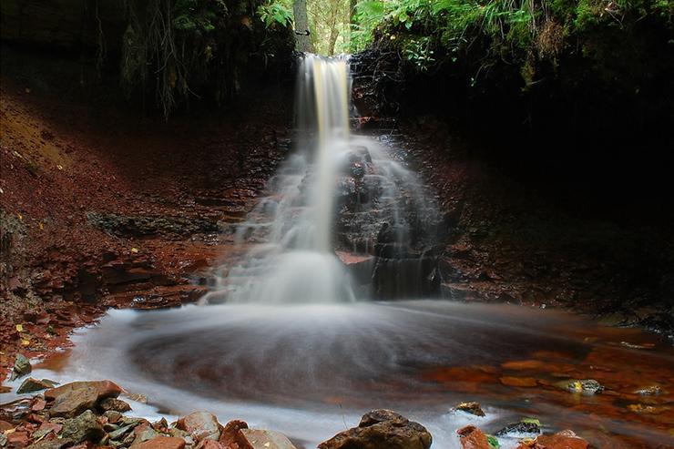 Zartapu waterfall in Latvia's Slitere National Park