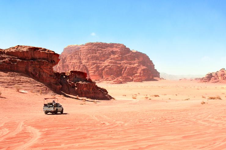 Desert safari in the Wadi Rum in Jordan
