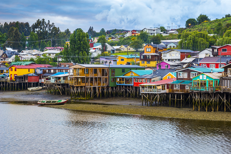 Palafitos in Castro, Chiloe island