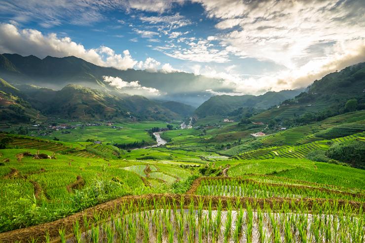 Scenery of Sapa, Vietnam