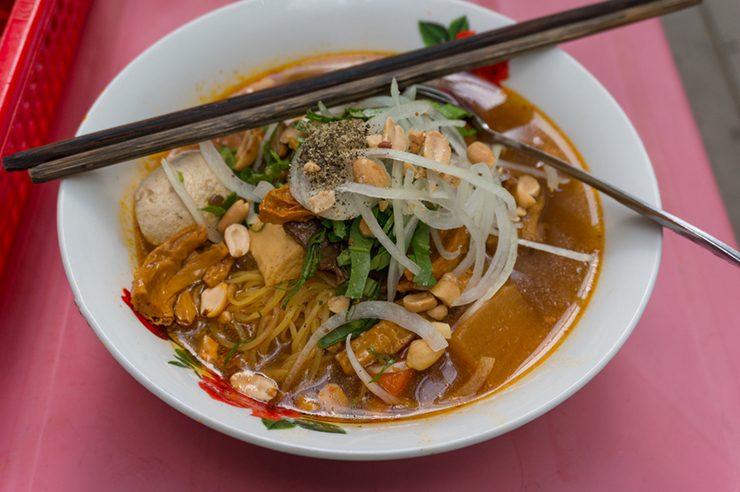 Traditional Pho soup in Vietnam