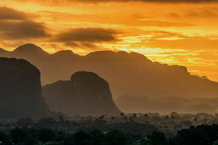 Sunrise at Vinales Valley in Cuba