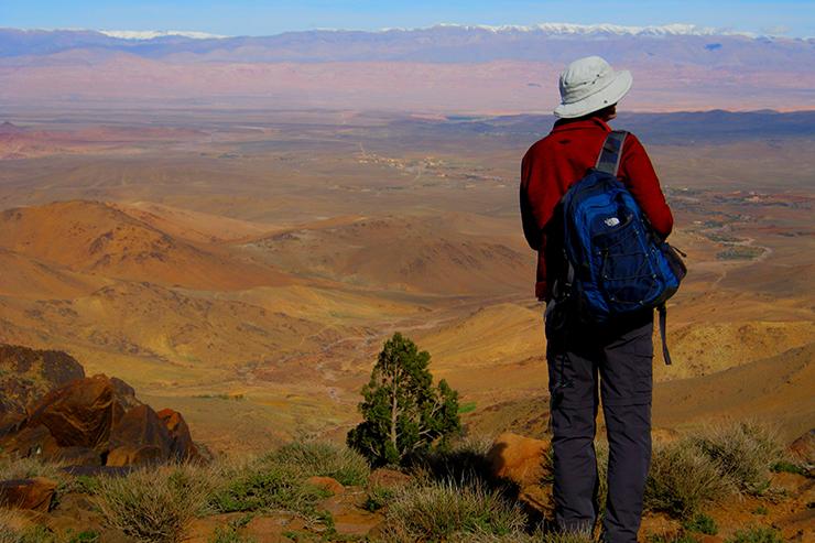 Trekker in the Jebel Sahro region of Morocco