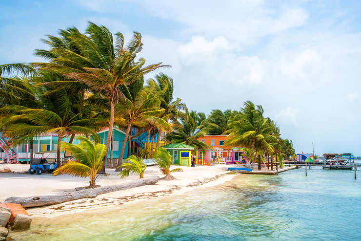 Colourful beach houses of Caye Caulker, Belize