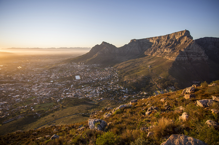 Cape Town and Table Mountain at Sunrise