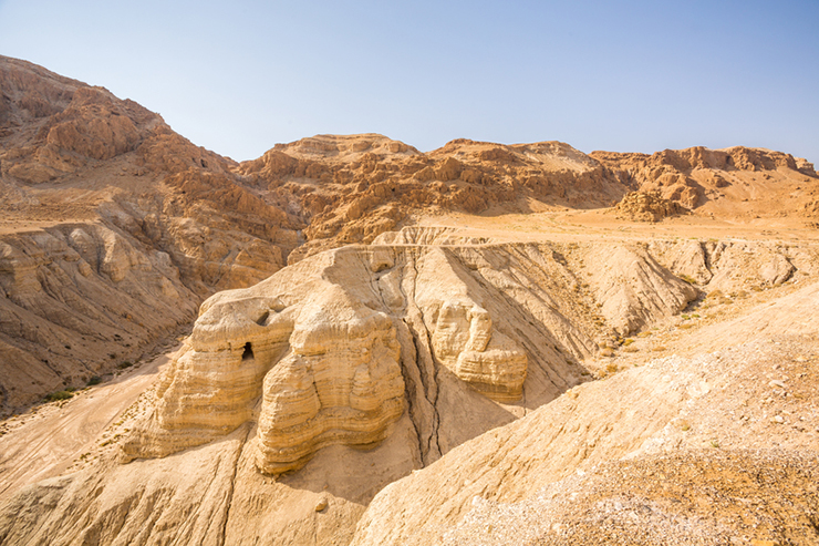 The cave in Qumran, where the dead sea scrolls were found