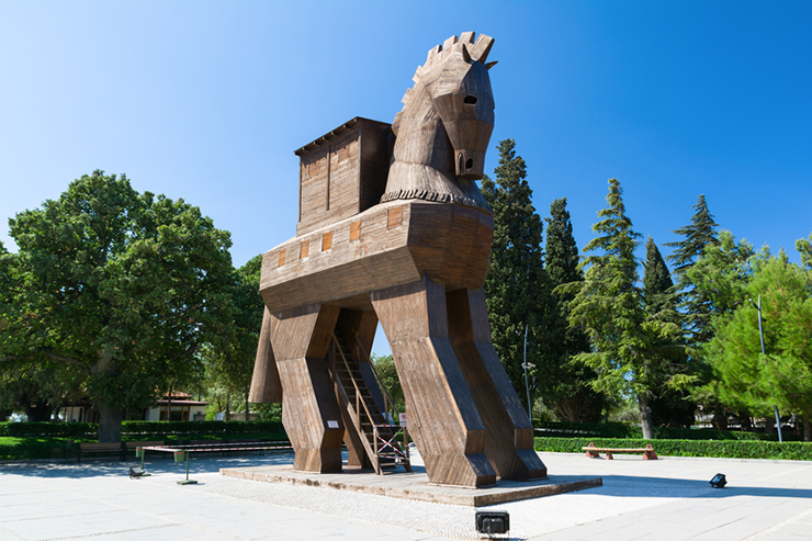 Replica of the Trojan Horse at Troy, Turkey