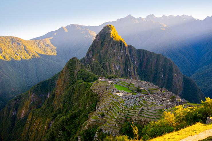 Sunrise on Machu Picchu, Peru