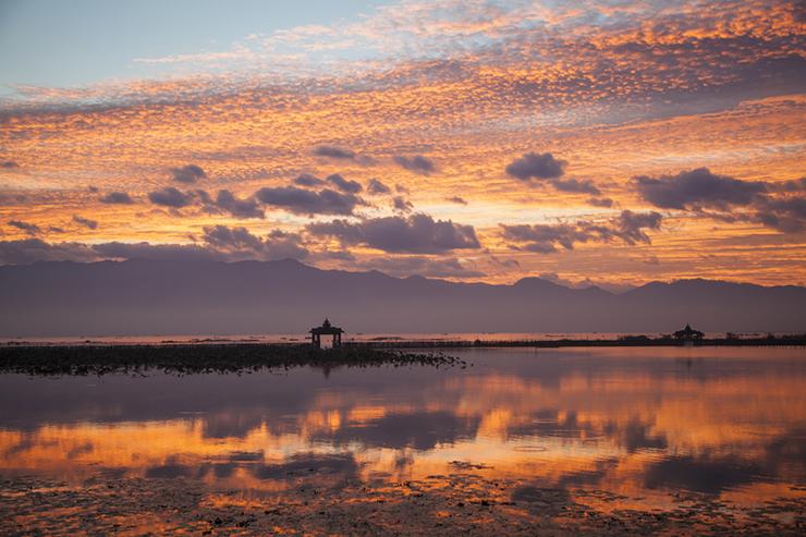 Sunrise over Inle Lake, Myanmar