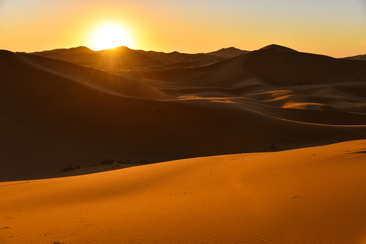 Sunrise over the Sahara Desert, Morocco