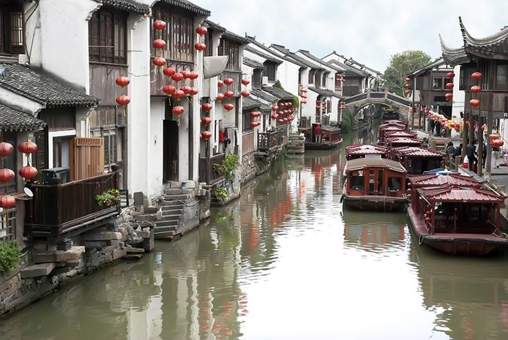 Ancient waterway in Suzhou, China