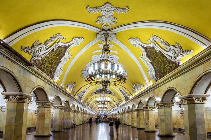 Komsomolskaya (Koltsevaya Line) station of Moscow metro, Russia
