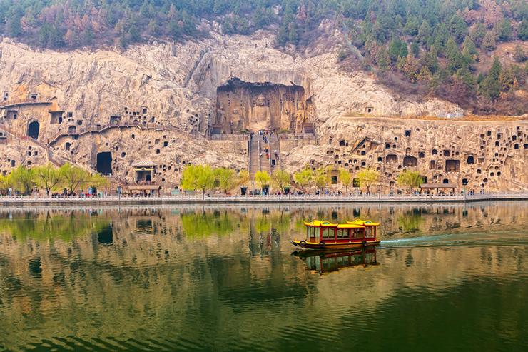 Longmen Grottoes near Luoyang in China