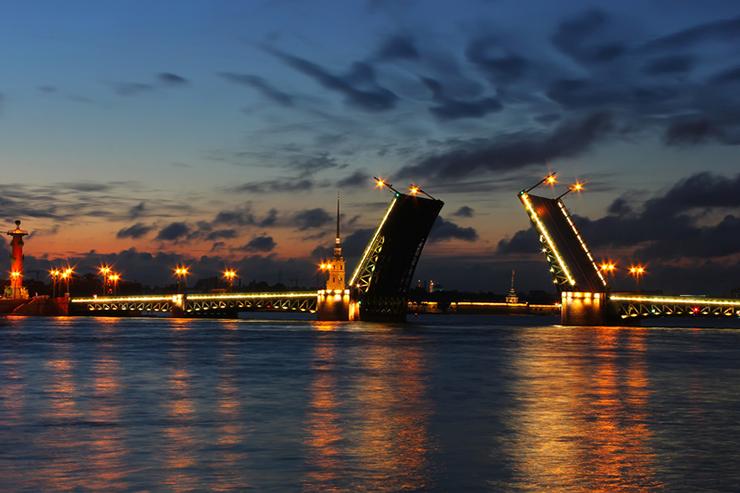 Rising of the Bridges, St Petersburg, Russia