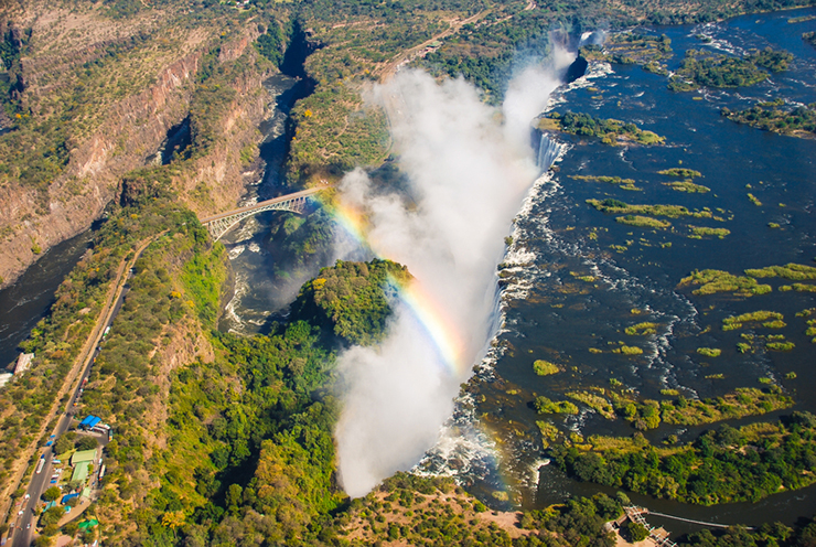 Aerial view of Victoria Falls, Zimbabwe-Zambia border