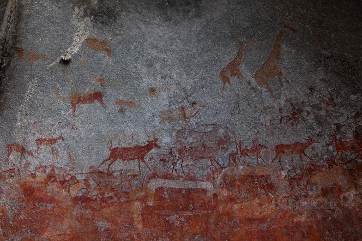 Ancient rock art in Matobo National Park, Zimbabwe