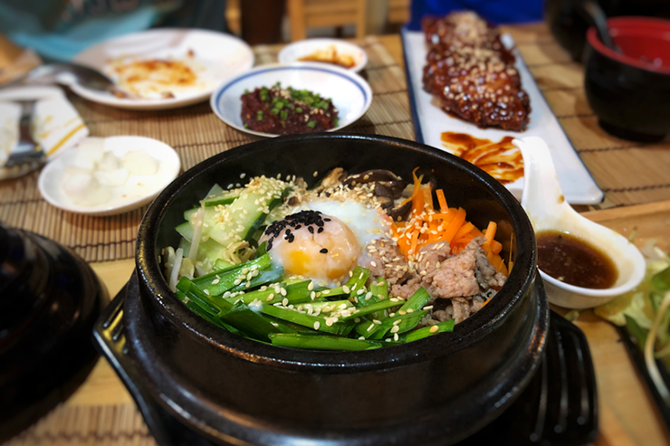 Bibimbap, South Korean food