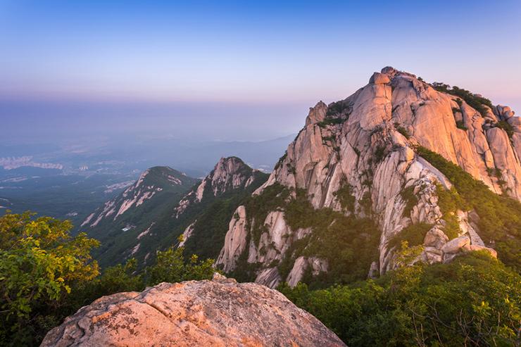 Bukhansan mountain at sunrise, South Korea