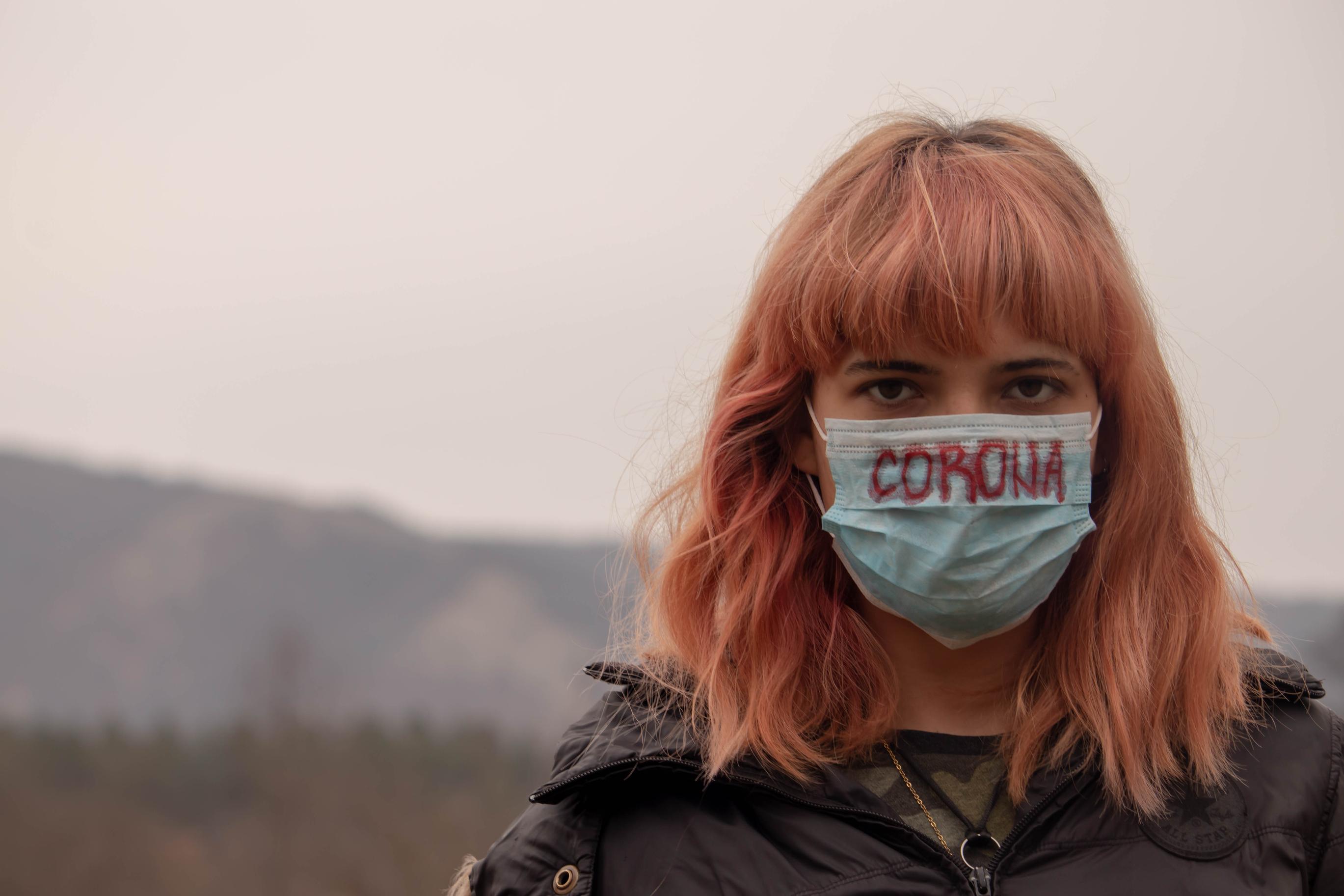COVID-19 mask girl