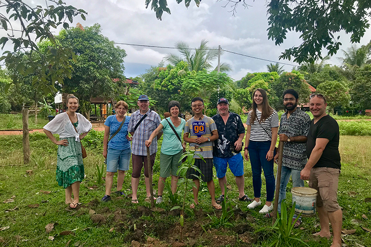 Tree planting in Cambodia