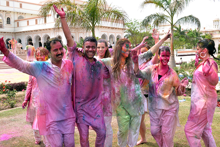 Local festivals such as Holi in India are a great way to meet people and learn a foreign language
