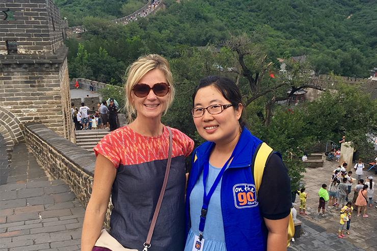 Stephanie là một trong những hướng dẫn viên du lịch của chúng tôi ở Trung Quốc