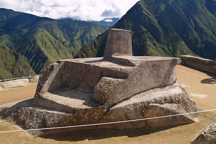 Intihuatana ritual stone, Machu Picchu, Peru