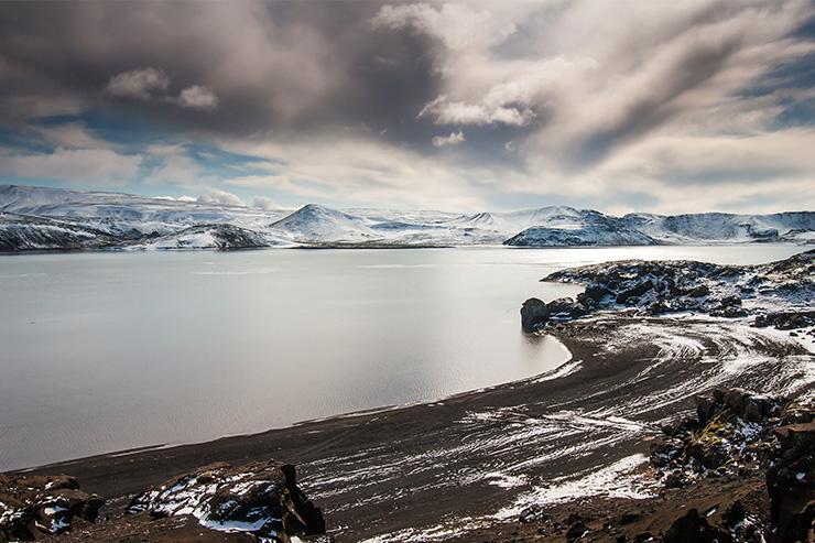 Black lava beach, Iceland