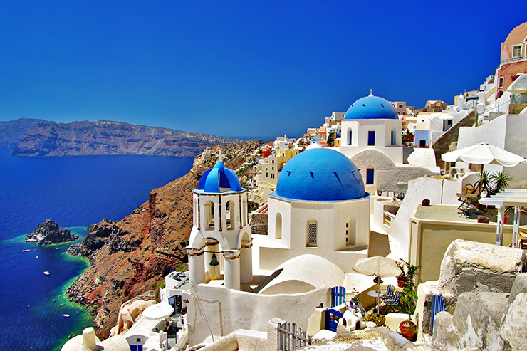Santorini, Greece is renowned for having some of the best views in the world