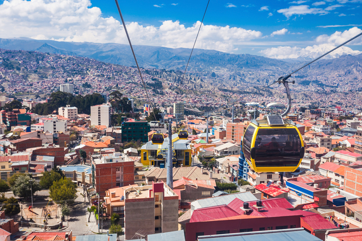 Cable car over La Paz, Bolivia
