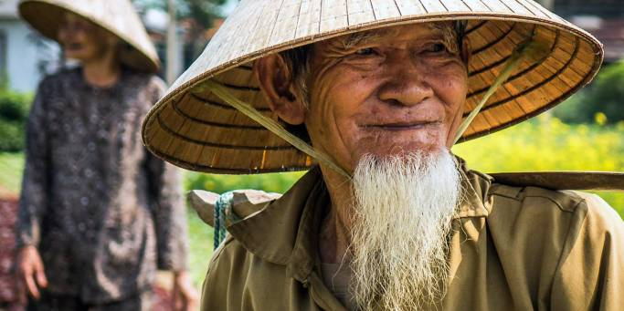 Meet local Vietnamese villagers on our Vietnam Tours