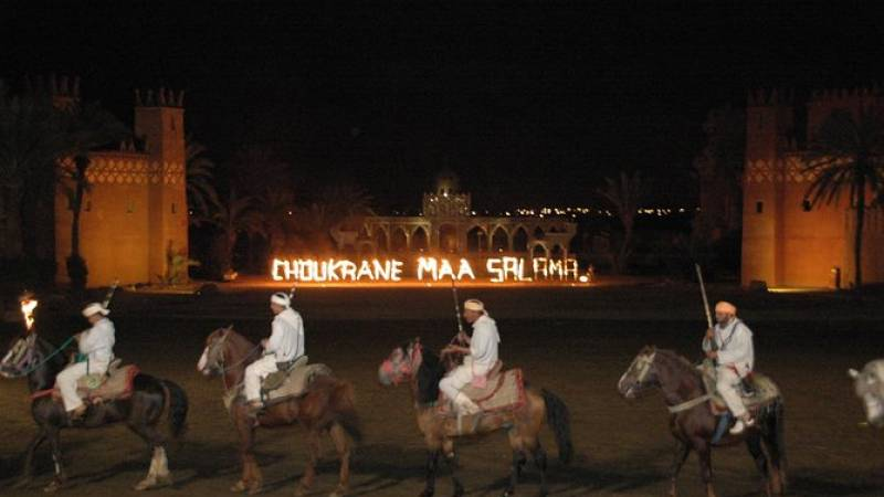 Moroccan Dinner and Show at Fantasia Restaurant in Marrakech