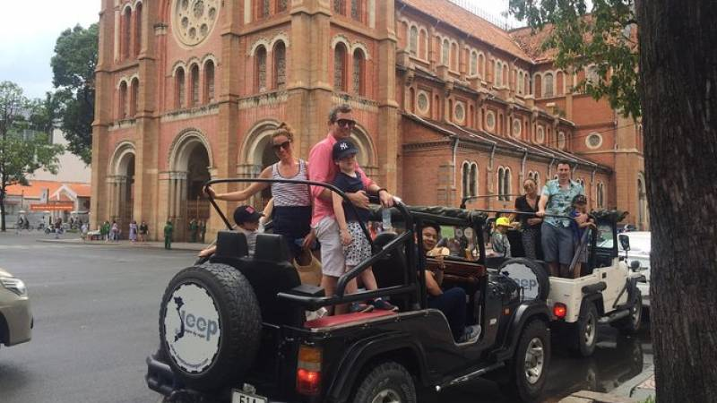 Ho Chi Minh City Private Half-Day Tour by Jeep