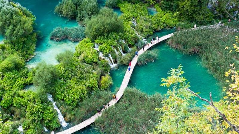 Small Group - Plitvice Lakes Day Trip (entrance ticket included) from Split