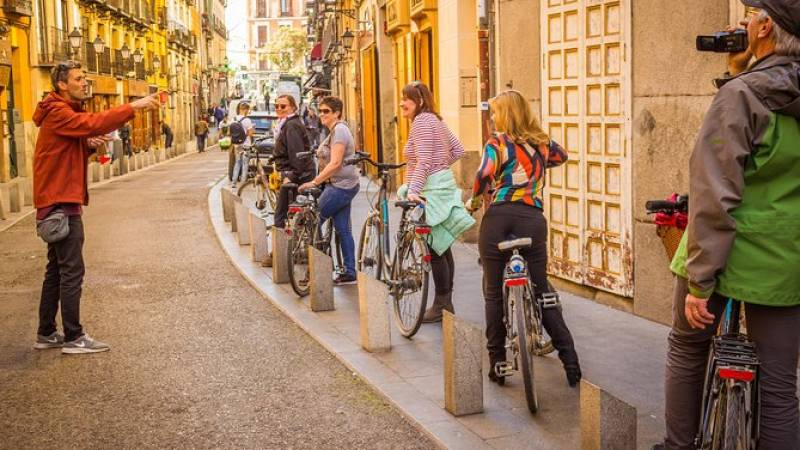 3hr. Best of Madrid Tour by bike + tapas