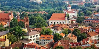 Aerial View of Vilnius's Old Town