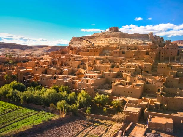 City walls of Ouarzazate