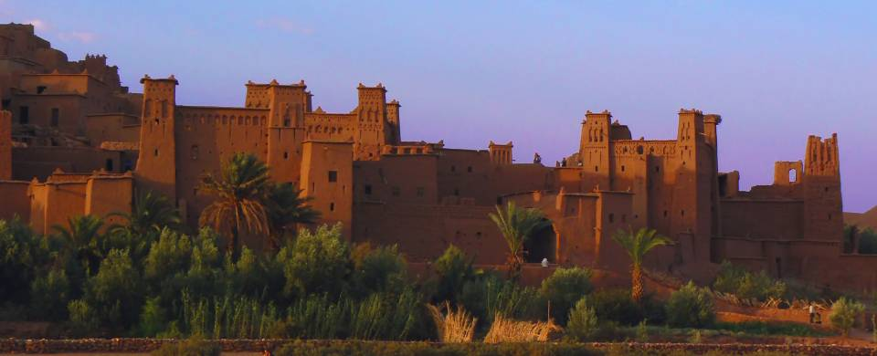 Sand coloured kasbah in Ait Benhaddou