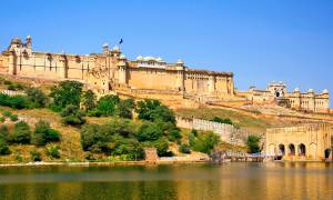 Amber Fort from the water - India Tours - On The Go Tours